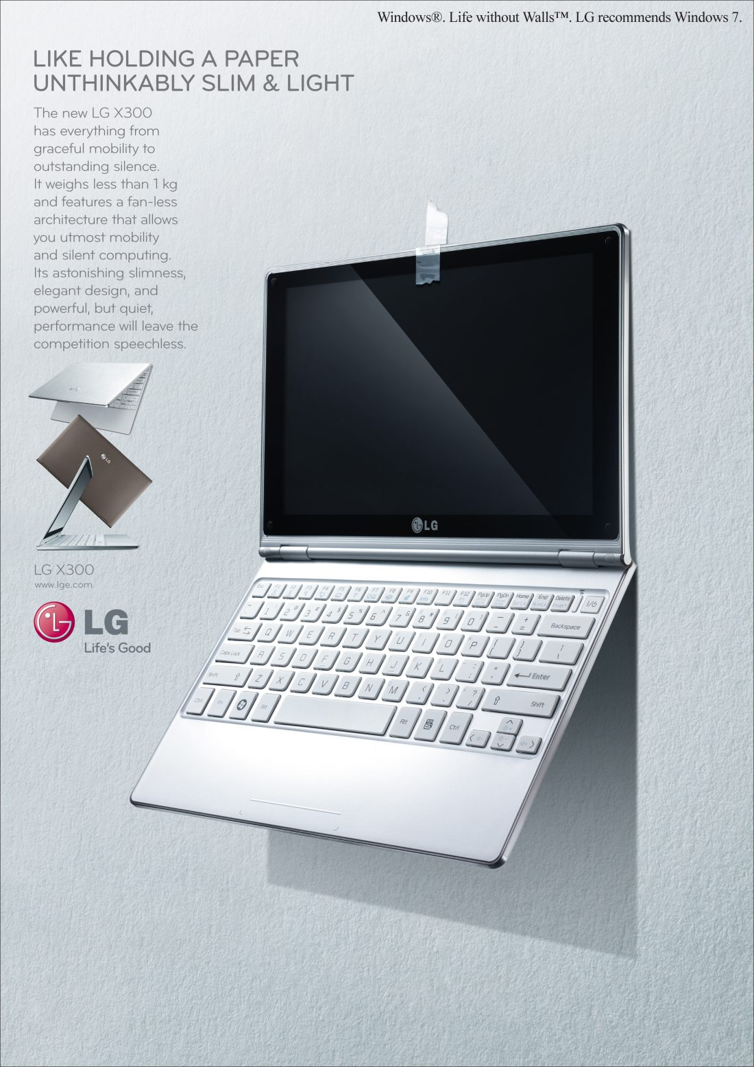 A promotional poster for the LG X300