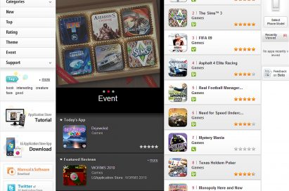 Screenshot of the online LG Application Store