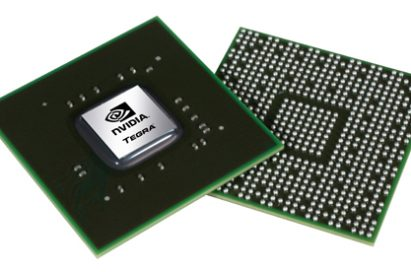Front and rear views of NVDIA's Tegra 2 mobile processor