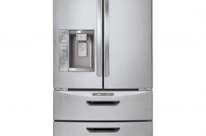 Front view of the new LG Four-Door French-Door refrigerator
