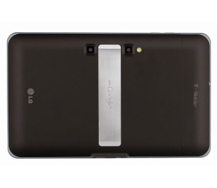 Rear view of the LG G-Slate