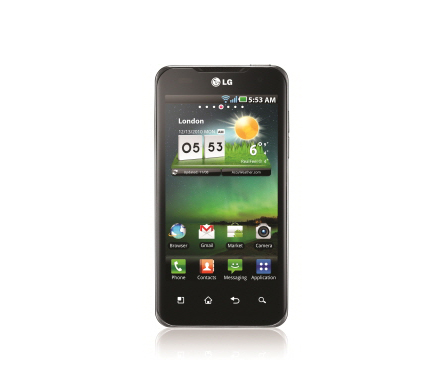 Front view of the LG Optimus 2X