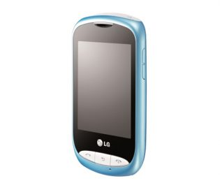 Front view of the LG Wink Style in sky blue