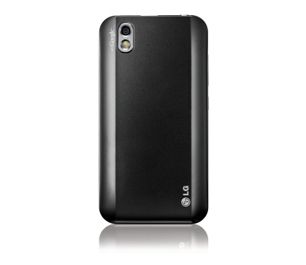 Rear view of the LG Optimus Black