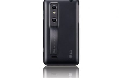 Rear view of the vertical LG Optimus 3D