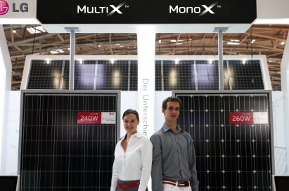 A center view of the Multi X and Mono with models in front