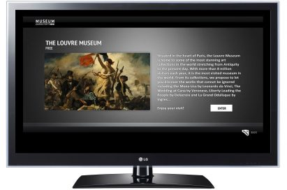 The art museum app 'MUSEUM' on one of LG's CINEMA 3D Smart TVs