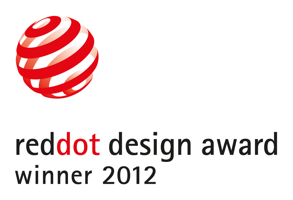 Certificate logo for winners of Reddot Design Award 2012