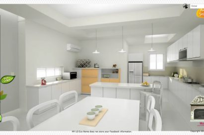 The 'Concept Kitchen of my Eco Home' section of LG's Facebook campaign, 'My Eco Home'