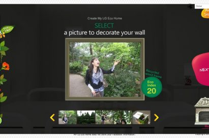 The 'Interior Personalization with friends' section of LG's Facebook campaign, 'My Eco Home'