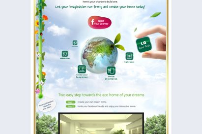Main page of LG's Facebook campaign 'My Eco Home'