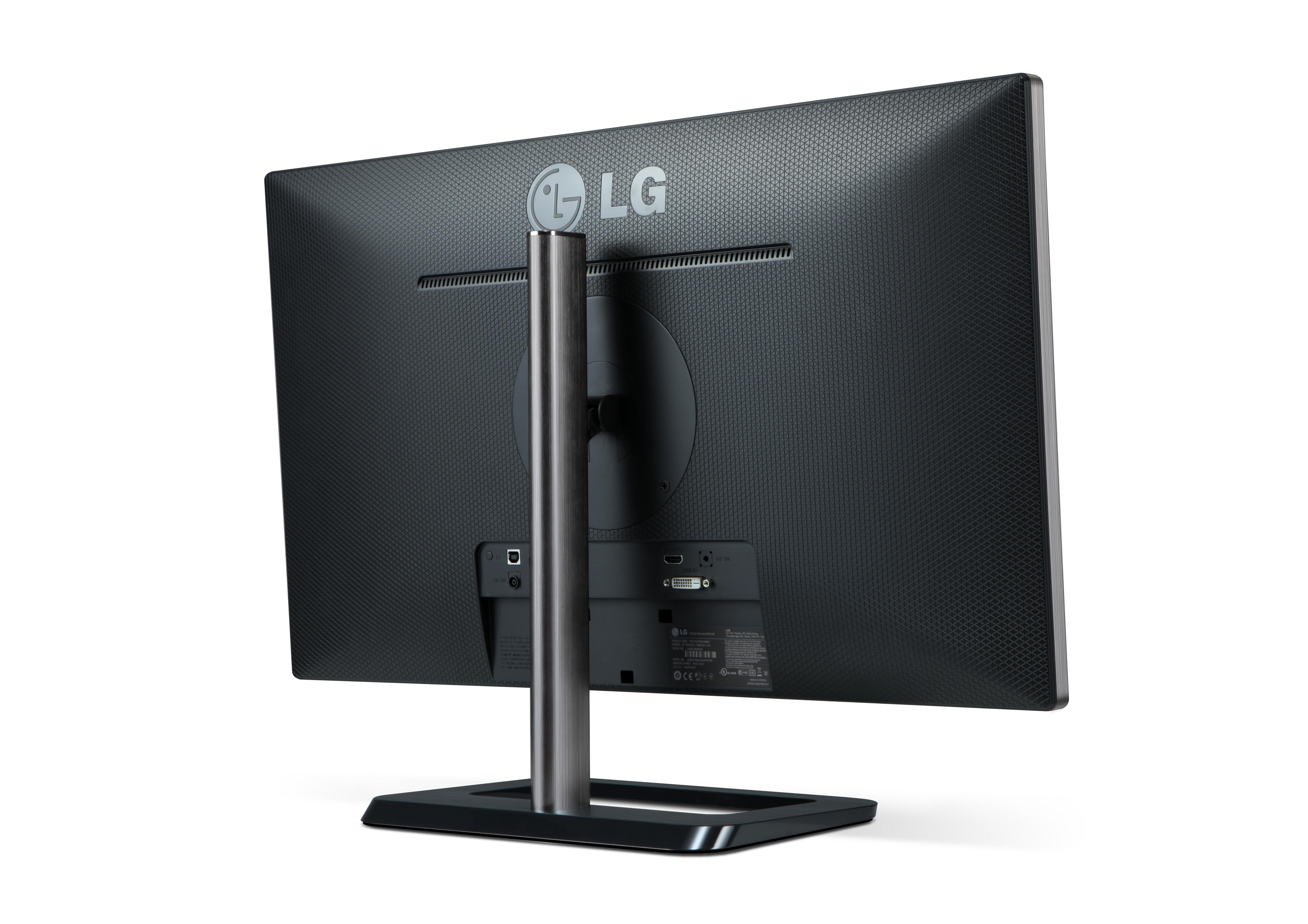 A rear view of LG premium IPS monitor model EA83
