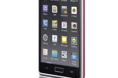 15-degree front view of LG Optimus L7