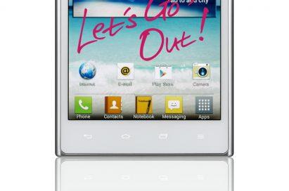 Front view of LG Optimus Vu: