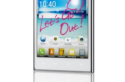 15-degree view of LG Optimus Vu: