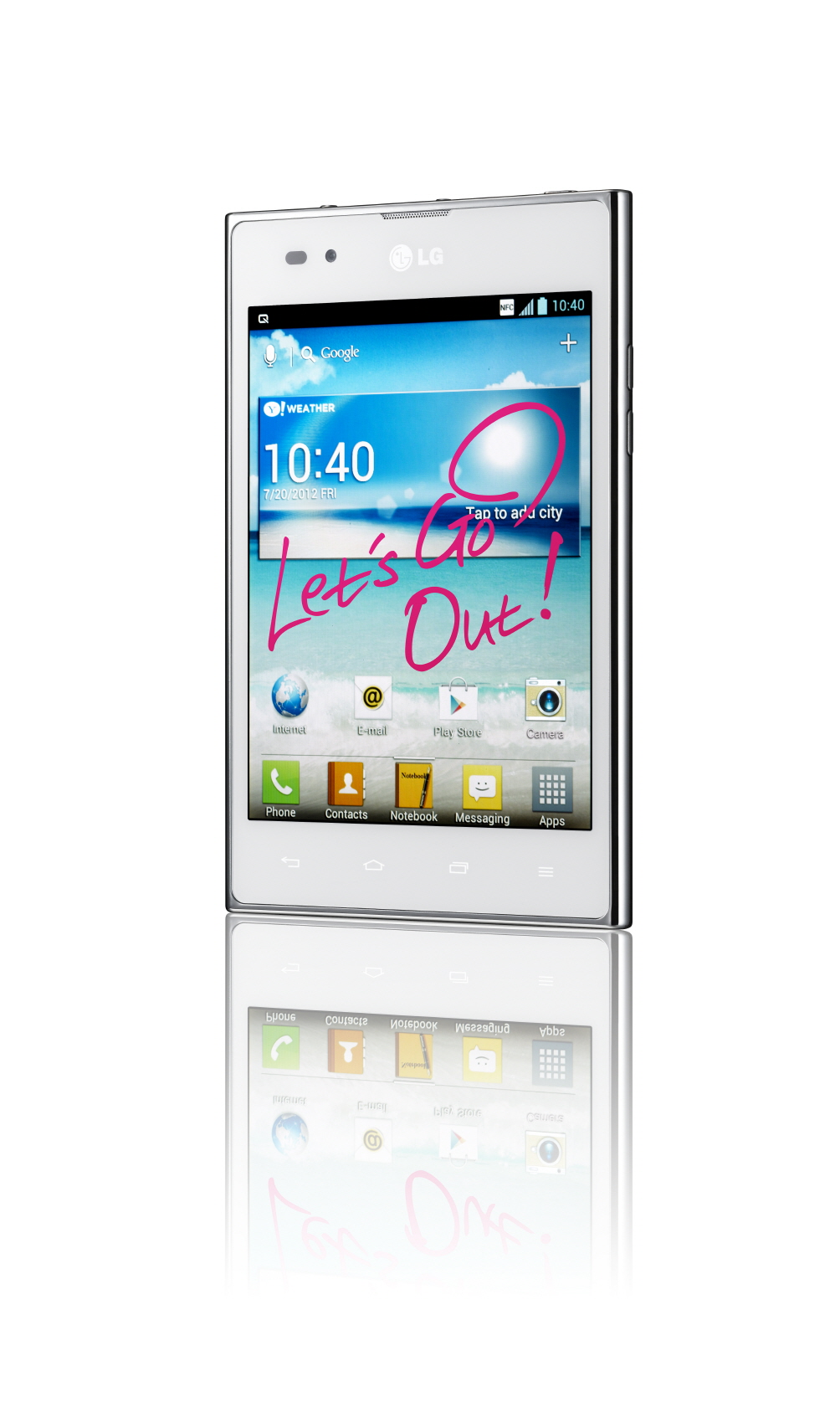 15-degree view of LG Optimus Vu: