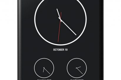 Front view of LG Nexus 4 showing the time of 3 different countries.