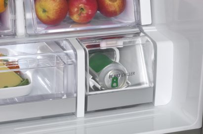 A picture of the LG Blast Chiller cooling down a can of beer