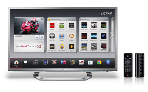 2012 LG Smart TV with Google TV™ (G2 Series).