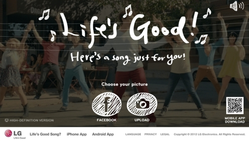 """A thumbnail image of the new online """"Life's Good"""" campaign"""