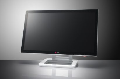 A right-side view of LG IPS monitor Touch10