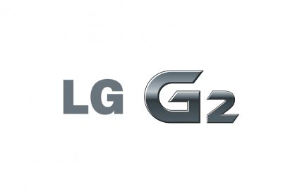 Logo of LG G2 against a white background.