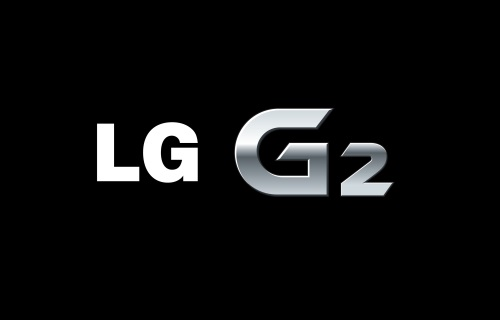Logo of LG G2 against a black background.