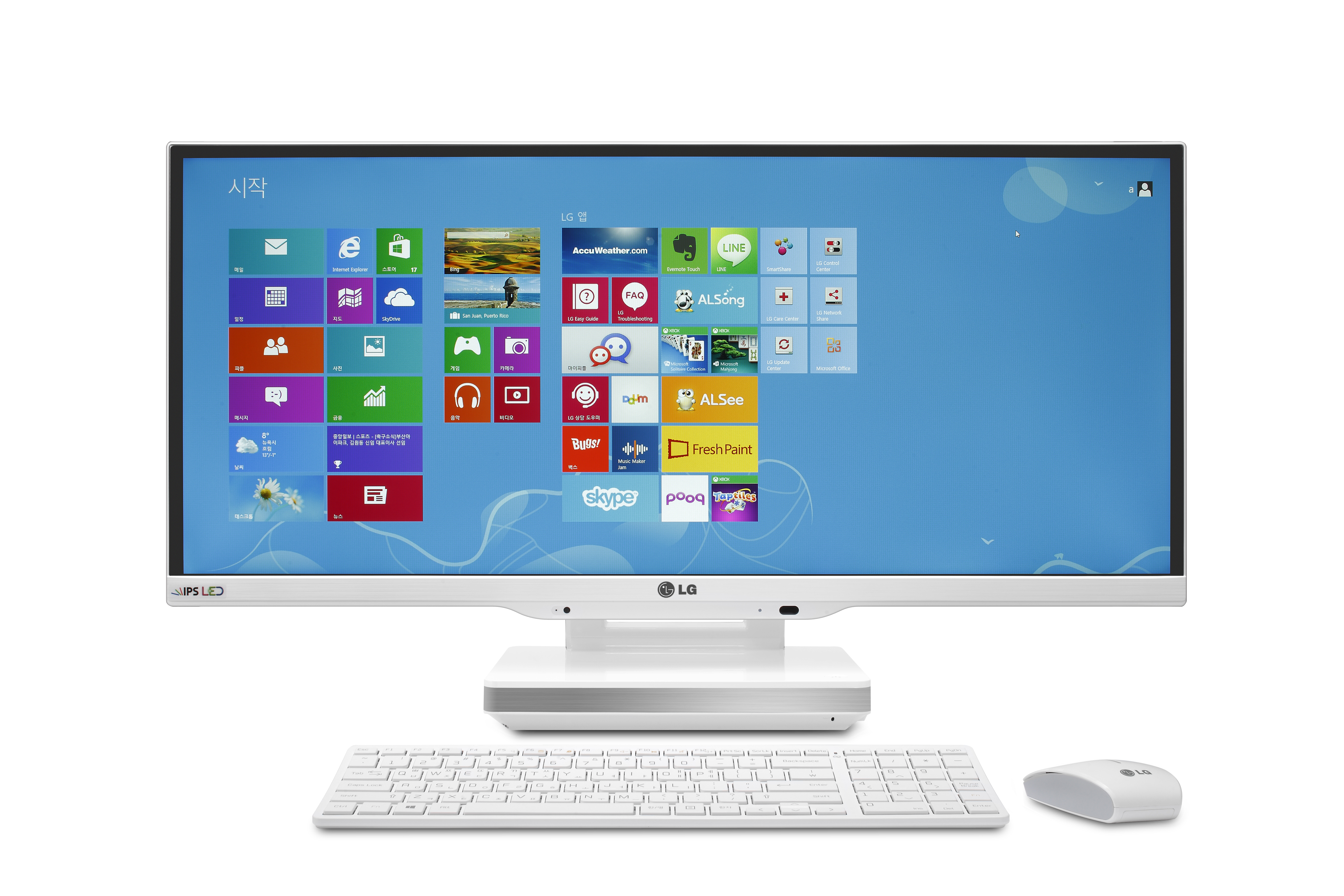Front view of the LG IPS 21:9 UltraWide All-In-One PC Model V960