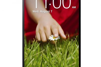 A front view of LG G2.