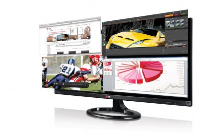 Front view of the LG IPS 21:9 UltraWide IPS monitor model 29EA73