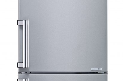 Front view of the LG bottom-freezer refrigerator
