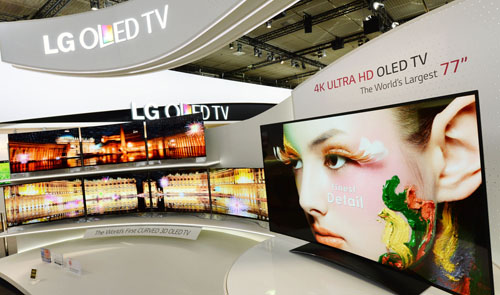 LG is showcasing the 77-inch ULTRA HD OLED TV at IFA 2013.