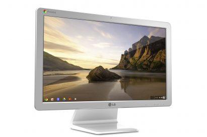 Left-side view of LG Chromebase model 22CV241