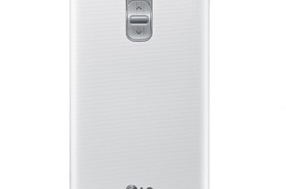 A back view of LG G Pro 2 in white color.