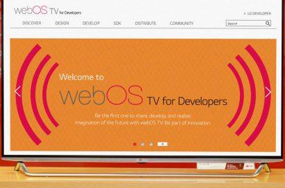 webOS for Developers displayed on LG's Smart TV