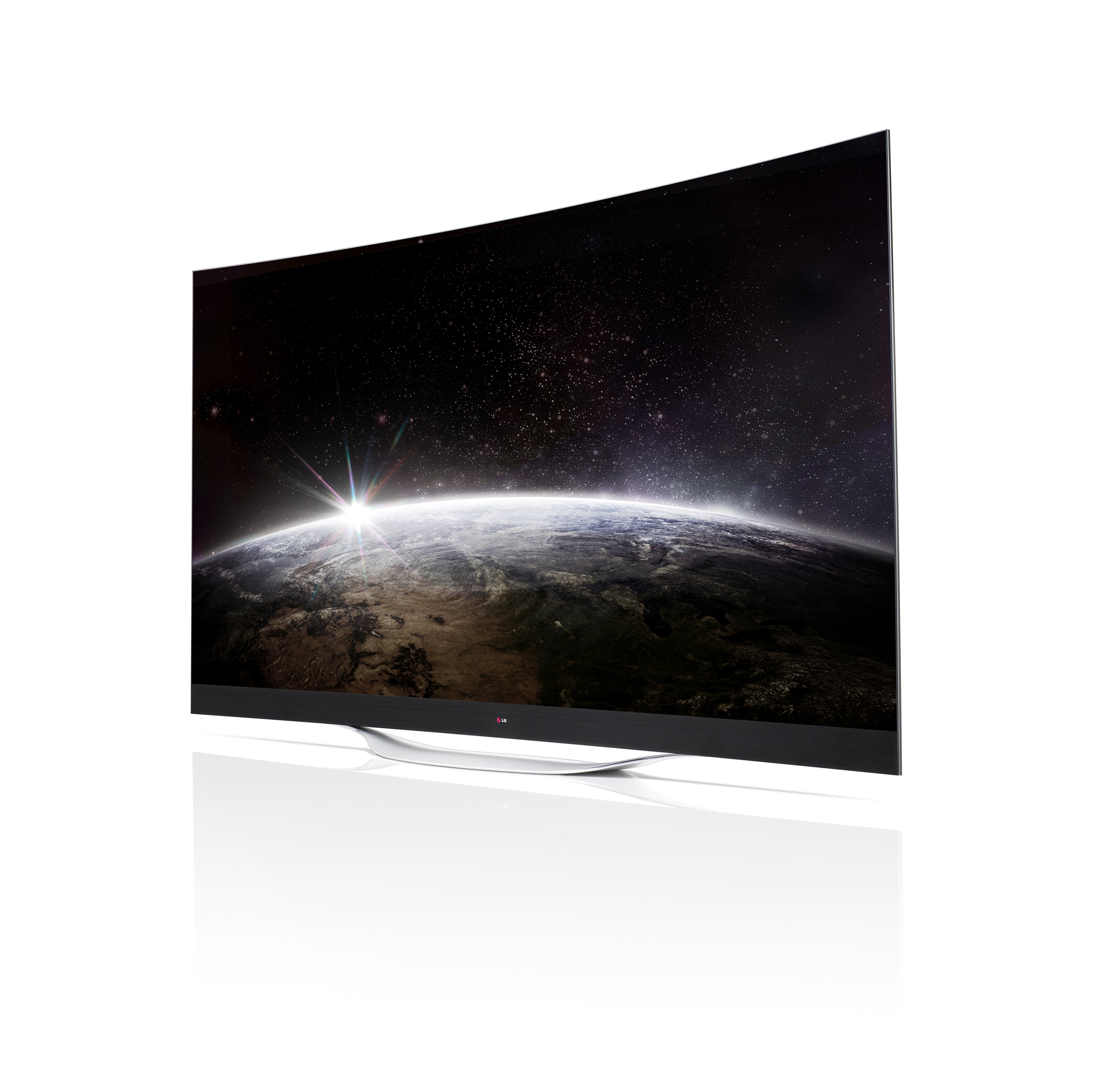 A right-side view of LG's 77-inch 4K OLED TV
