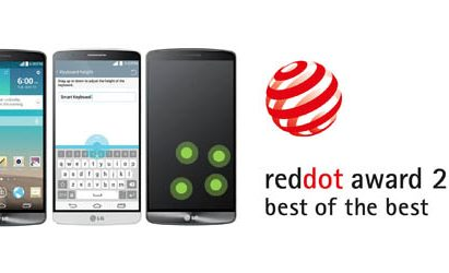 """The Smart Keyboard, Knock Code and the graphic user interface (GUI) of the acclaimed LG G3 smartphone received """"Best of the Best"""" awards at the reddot award 2014."""