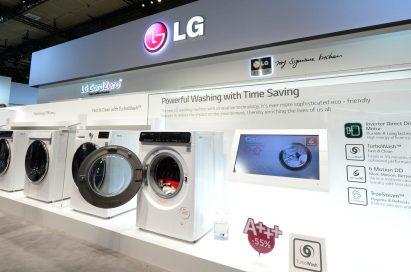 LG's washing machine lineup.