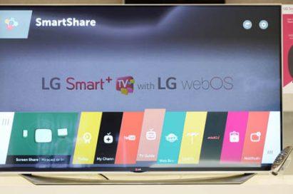 LG's webOS 2.0 displayed on Smart TV