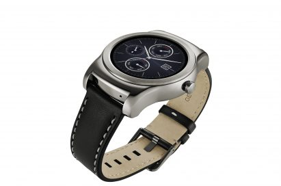 A side view of LG Watch Urbane in silver color