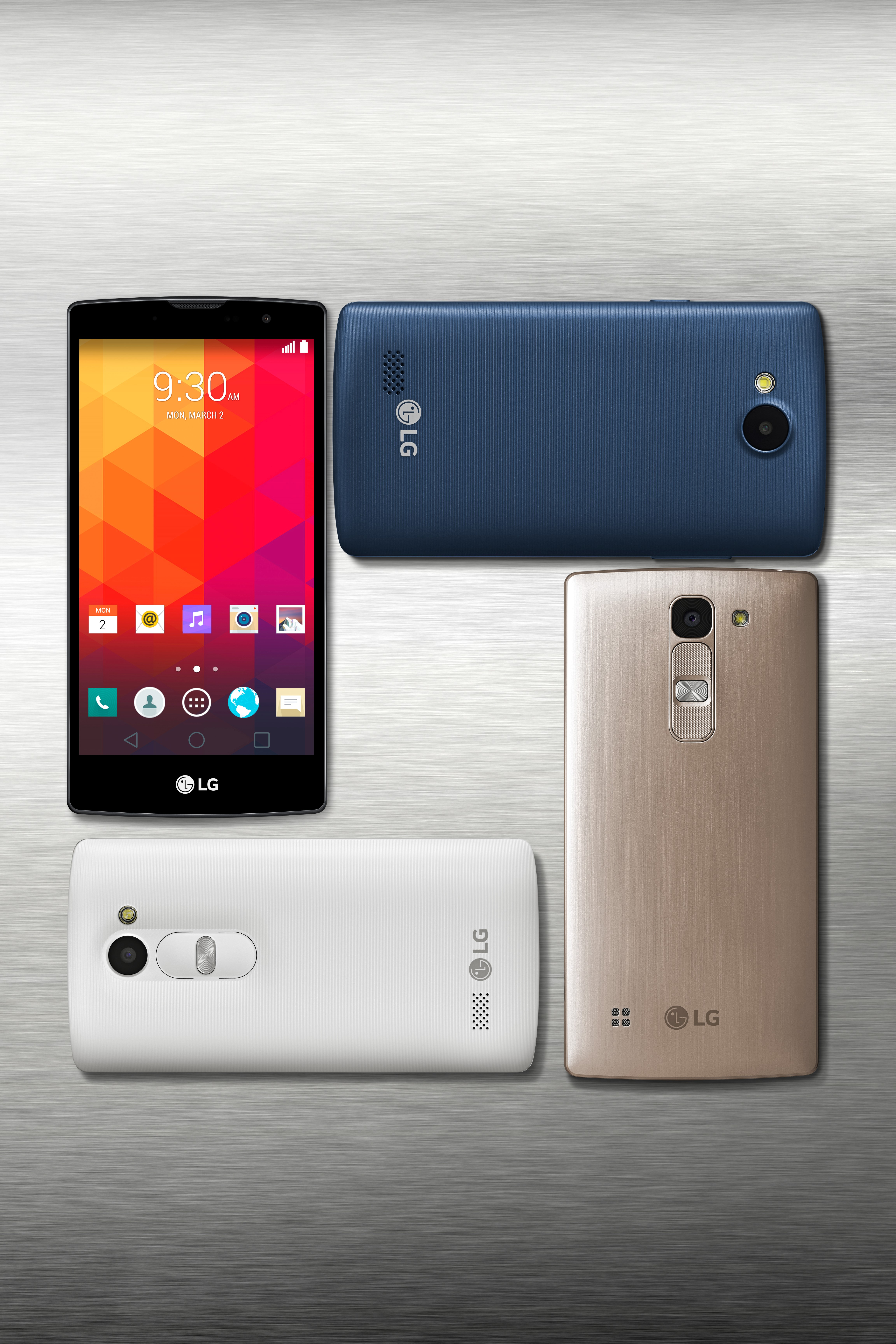Four of LG new mid-range smartphones.