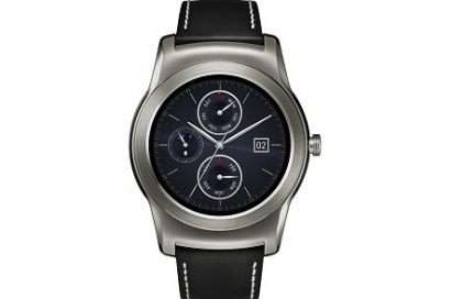 Front view of LG Watch Urbanes in silver color