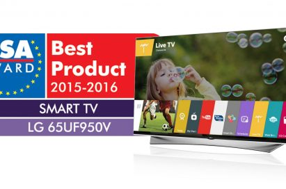 LG's 65-inch webOS 2.0-enabled PRIME UHD TV1 (model 65UF950V) was named 'The Best Smart TV 2015-2016' by the European Image and Sound Association