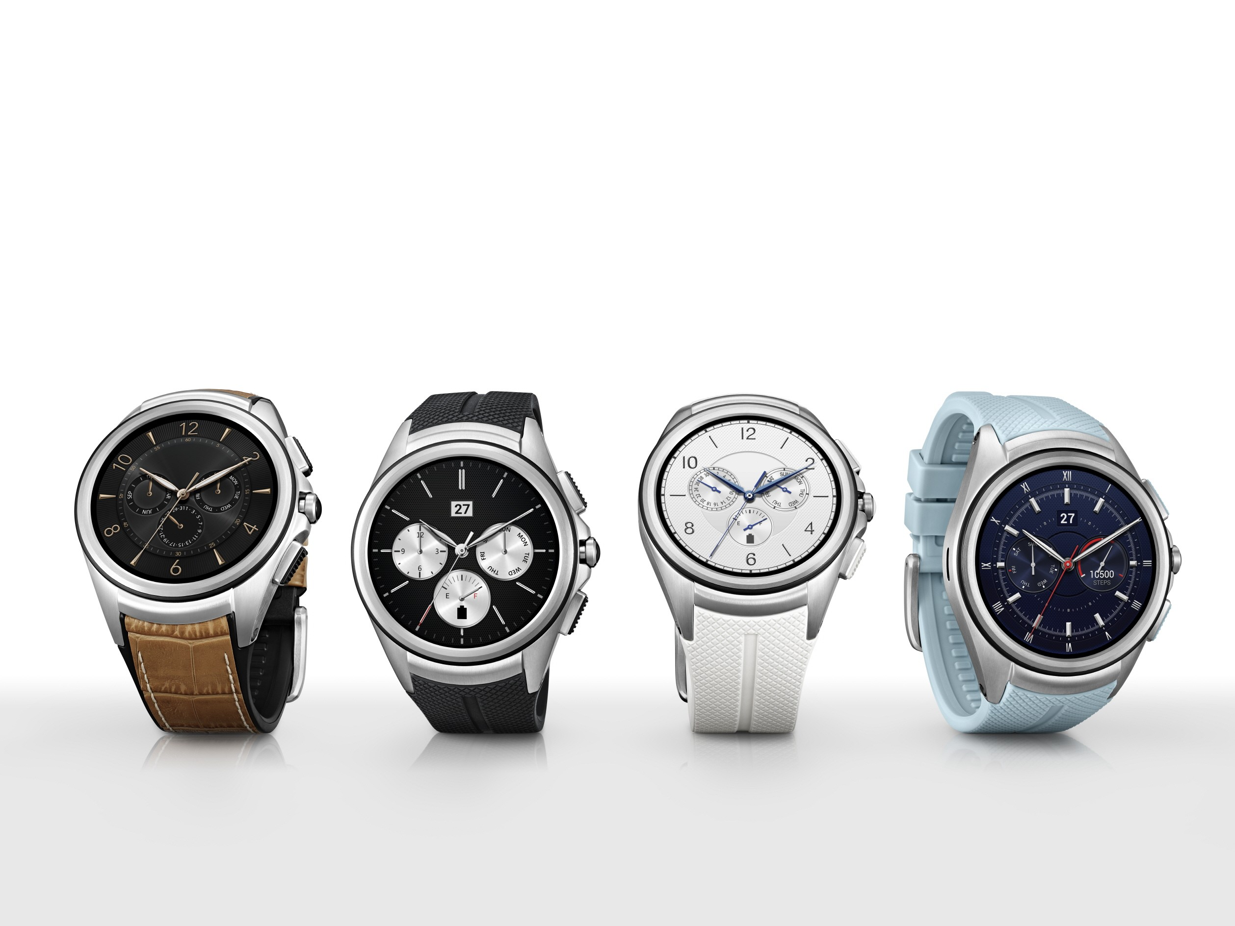 The LG Watch Urbane 2nd Edition in Signature Brown, Space Black, Luxe White and Opal Blue