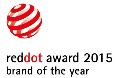 Logo of the reddot award 2015 brand of the year.