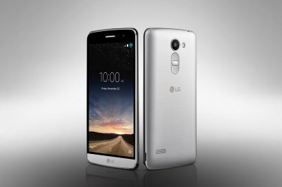 The front and back view of the LG Ray in Silver
