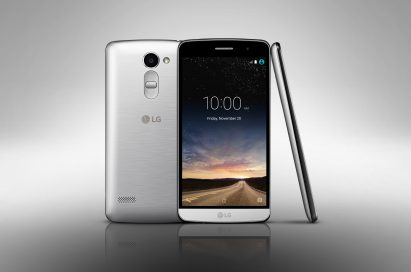 The front, back and side view of the LG Ray in Silver