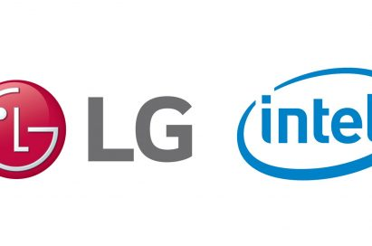 The logo of LG Electronics and Intel to commemorate a new partnership toward 5G TELEMATICS TECHNOLOGY FOR NEXT GENERATION CARS