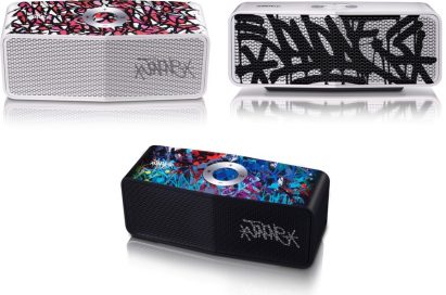 Three unique models from LG's Portable Speaker art-series