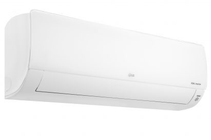 Side view of LG DUALCOOL air conditioner